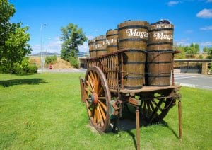 Old wine cart at Bodegas Muga