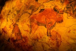 Paintings in the Altamira caves