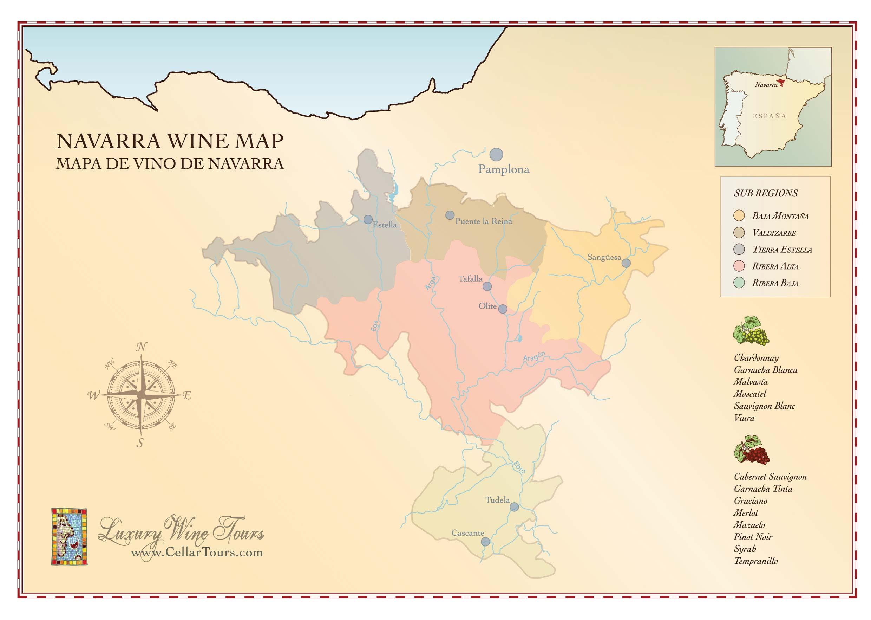 Navarra Wine Region Map