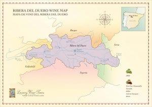 Ribera del Duero Wine Region Map