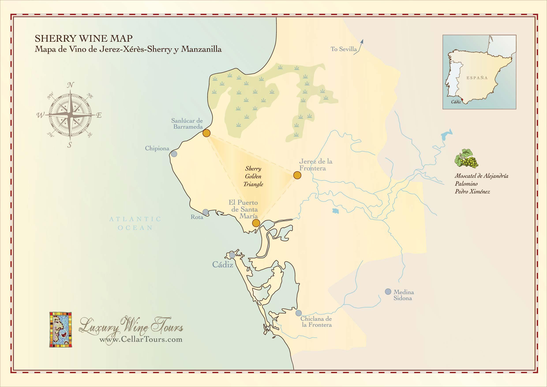 Sherry Wine Region Map